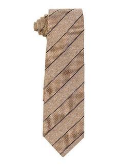 Isaia Textured Stripe Silk Tie