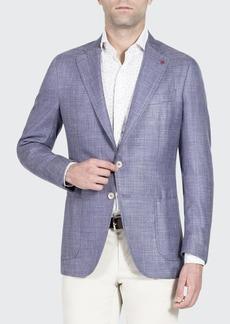 Isaia Textured Wool-Blend Blazer