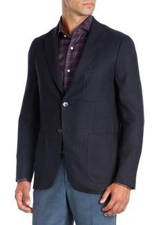 Isaia Textured Wool-Silk-Cashmere Blazer