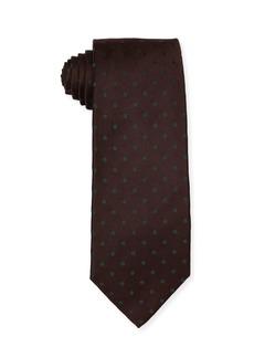 Isaia Woven Dot Silk Tie