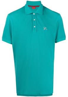 Isaia logo-embroidered cotton polo shirt