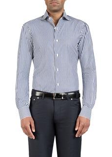 Isaia Men's Bengal-Striped Dress Shirt