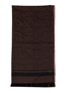 Isaia Men's Cashmere Striped-Trim Scarf