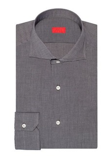 Isaia Men's Cotton Chambray Dress Shirt