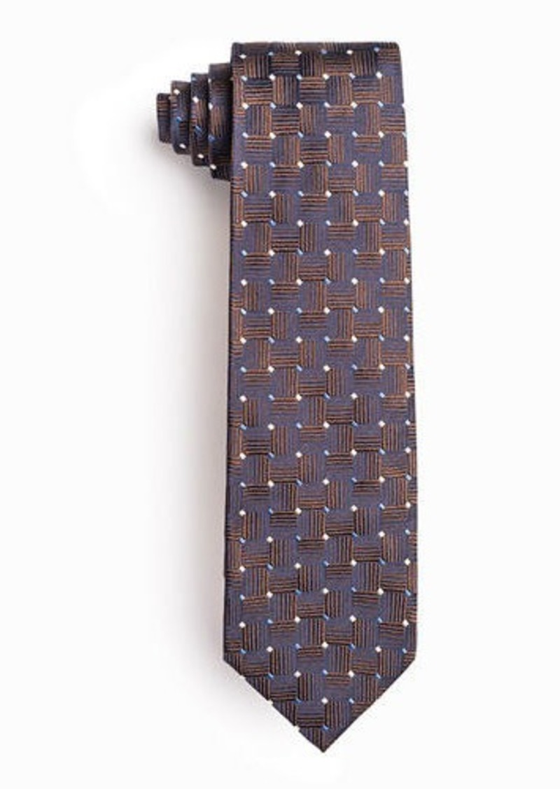 Isaia Men's Geometric Squares Silk Tie
