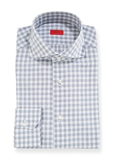 Isaia Men's Gingham Dress Shirt