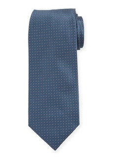 Isaia Men's Micro-Diamonds Silk Tie