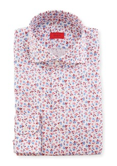 Isaia Men's Mini Floral Dress Shirt