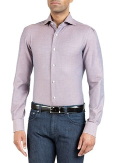 Isaia Men's Navetta Heathered Sport Shirt