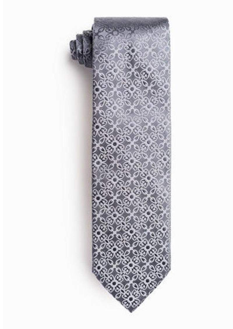 Isaia Men's Ornate Solid Silk Tie