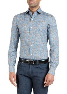 Isaia Men's Paisley Sport Shirt