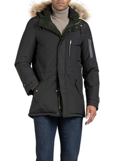 Isaia Men's Parka Coat w/ Fur Trim