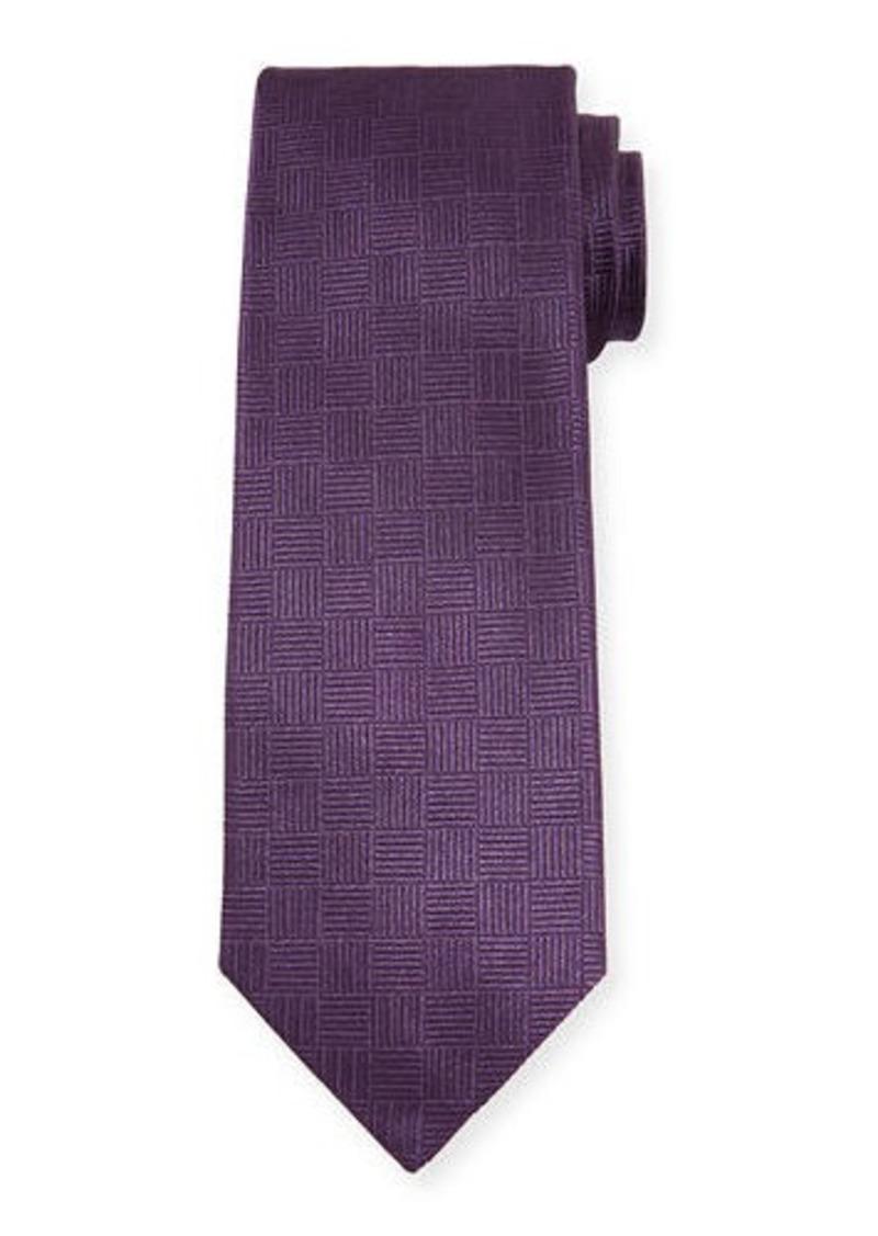 Isaia Men's Parquet Silk Tie