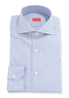 Isaia Men's Pique Cotton Dress Shirt