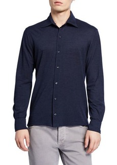 Isaia Men's Pique-Knit Sport Shirt