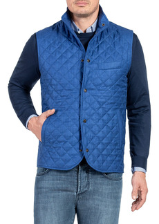 Isaia Men's Quilted Snap-Front Vest