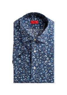 Isaia Men's Short-Sleeve Floral Sport Shirt