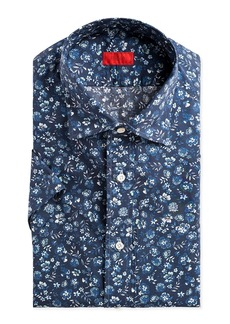Isaia Men's Short-Sleeve Floral Sport Shirt
