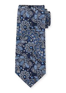 Isaia Men's Silk Paisley Tie