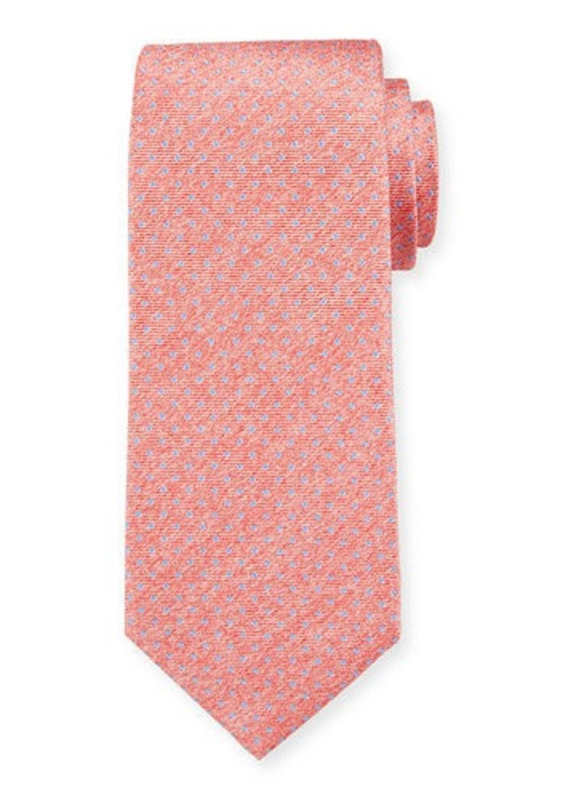 Isaia Men's Silk Pin Dot Tie