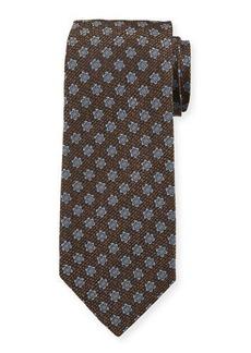Isaia Men's Silk Textured Star Tie