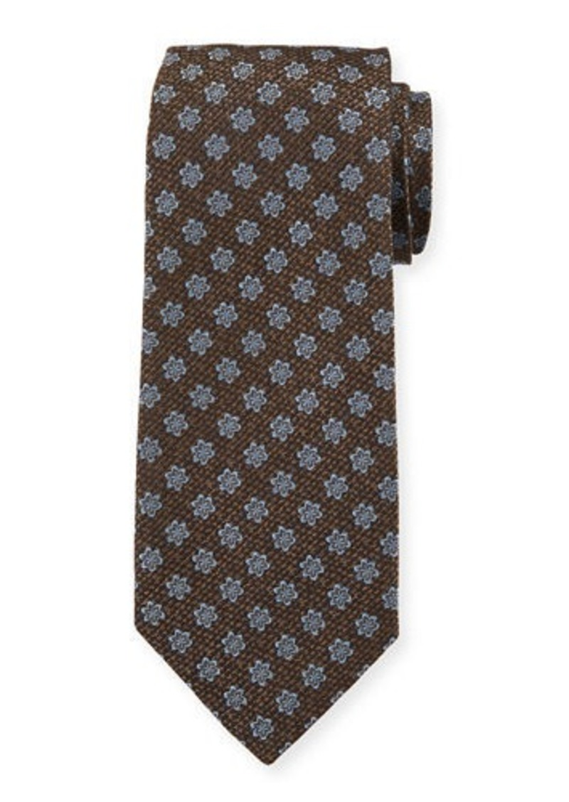 Isaia Men's Silk Textured Star Tie