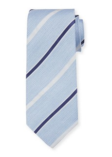 Isaia Men's Silk Textured with Stripes Tie
