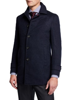 Isaia Men's Solid Cashmere Coat