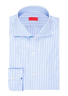 Isaia Men's Striped Cotton Dress Shirt