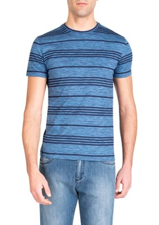 Isaia Men's Striped Cotton T-Shirt