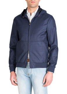 Isaia Men's Techno-Wool Zip-Front Jacket