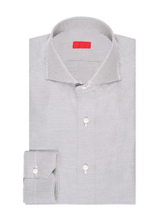 Isaia Men's Tic Cotton Dress Shirt