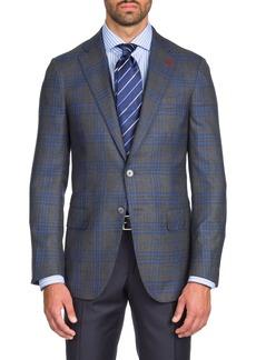 Isaia Men's Two-Tone Plaid Cashmere/Silk Two-Button Jacket