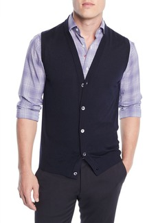 Isaia Men's Wool Cardigan Vest