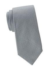 Isaia Micro Square Dot Silk Tie