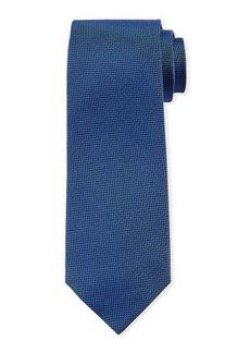 Isaia Mini Chevron Silk Tie