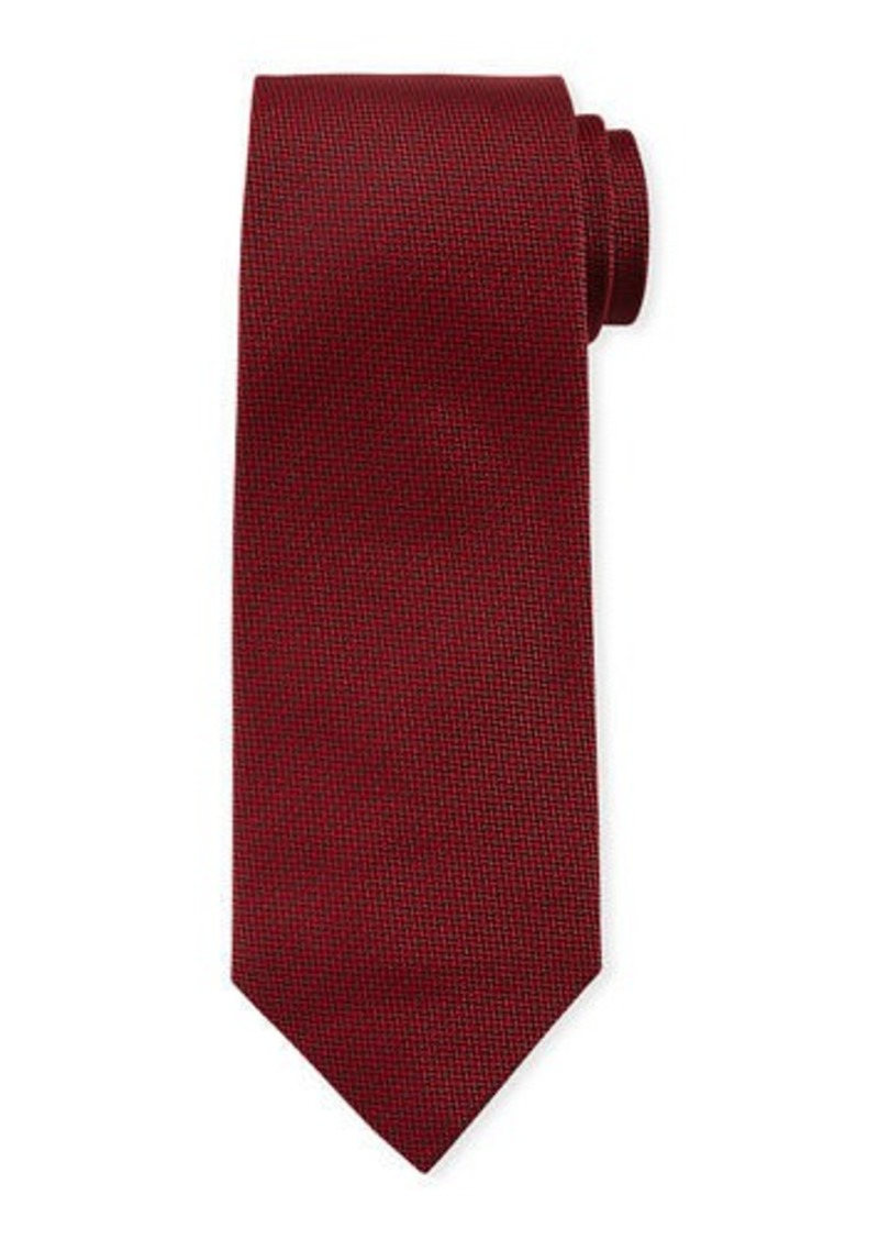 Isaia Mini Chevron Silk Tie