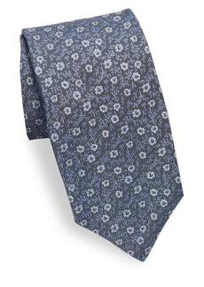 Isaia Mini Floral Silk Tie