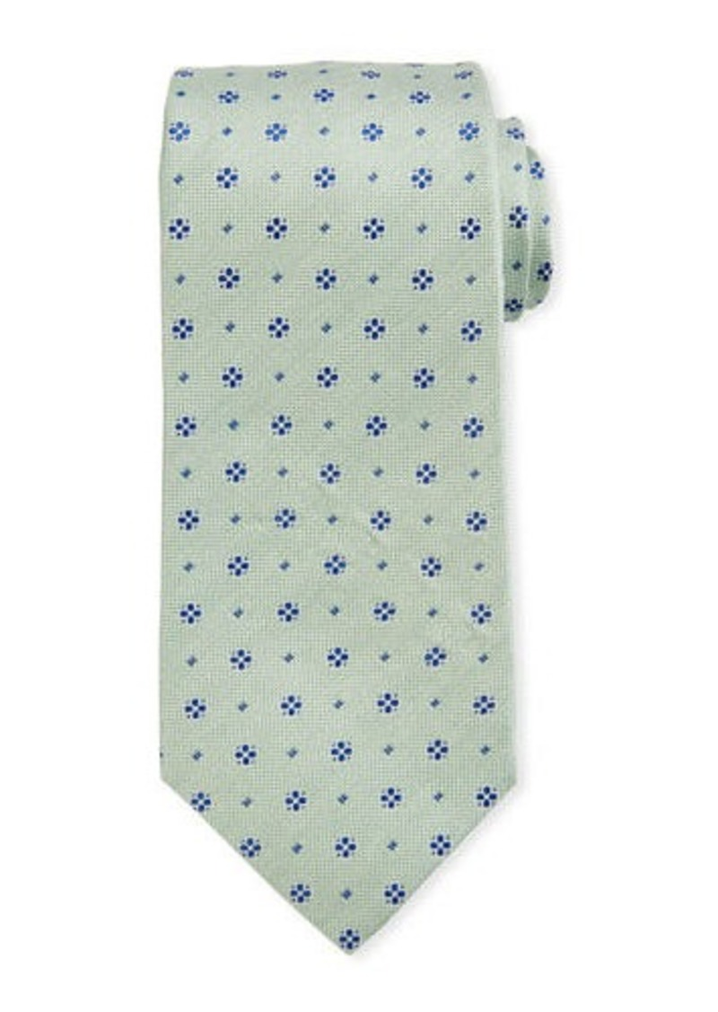 Isaia Mini Flower Silk Tie