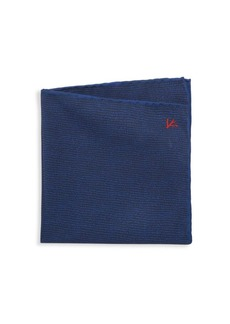Isaia Mini-Print Silk Pocket Square
