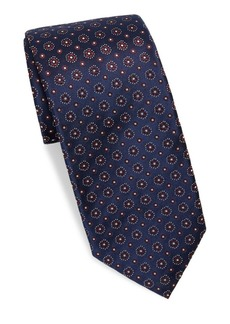 Isaia Mixed-Print Silk Tie