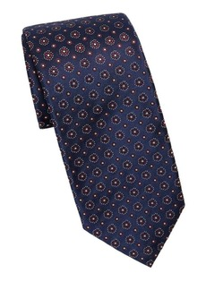 Isaia Mixed-Print Silk Tie