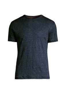 Isaia Mélange Silk & Cotton T-Shirt