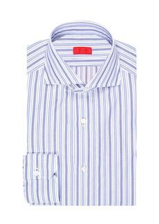 Isaia Multi-Stripe Cotton Dress Shirt