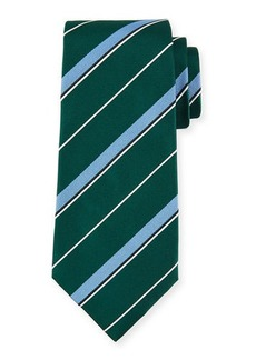 Isaia Multi-Stripe Silk Tie