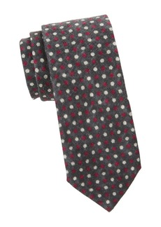 Isaia Multi-Tone Polka-Dot Silk Tie