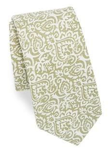 Isaia Paisley Cotton Tie