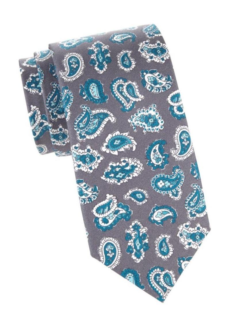 Isaia Paisley Silk Tie