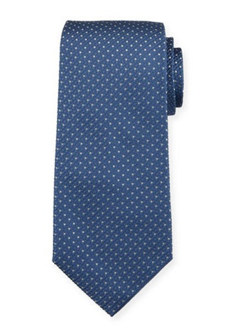 Isaia Pin Dot Silk Tie