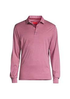 Isaia Pink Silk-Blend Polo